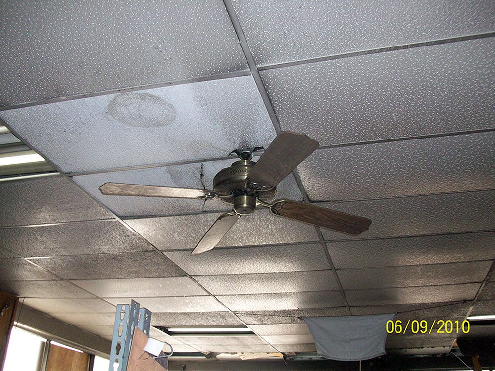 fire damage restoration ceiling