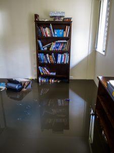 flooded room - flood restoration